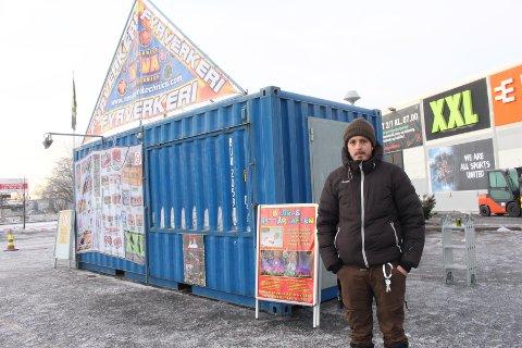 INNBRUDD: Kristoffer Lundby oppdaget innbruddet fredag morgen.