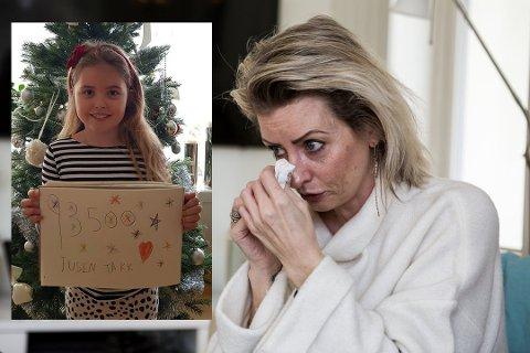 DRØM: Lykke (7) drømmer om den dagen mamma Marianne Fjeld skal bli frisk. Så langt har de fått inn 95 000 kroner til operasjon i Barcelona.