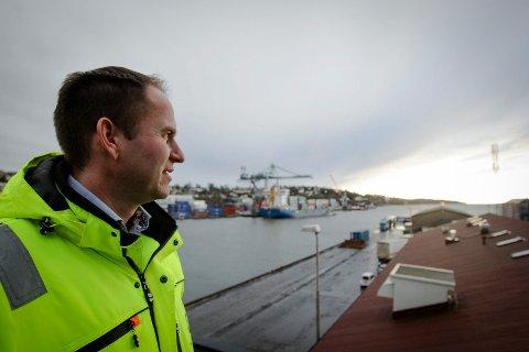 FORTSATT VARMT VELKOMMEN: Havnesjef Øystein Høsteland Sundby kan notere solid politisk støtte for Moss havn.