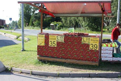 SOMMERJOBB: Jordbærsalg er en av mange tradisjonelle sommerjobber for ungdom. illustrasjonsfoto.