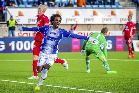 Moss i Sarpsborg: Amin Askar spiller for sarpingene.