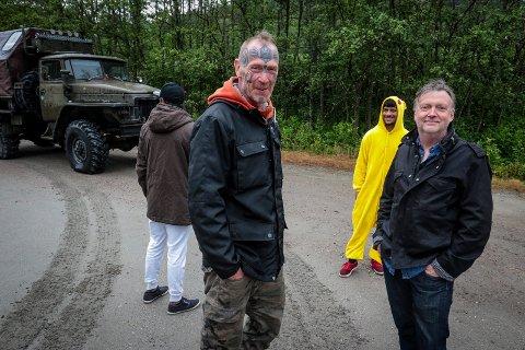 FARGERIKT: Vi har gjort mye forskjellig, sier Ole Dørje (til høyre), her sammen med sammen med Art Ranger, alias Ingar Aasen i 2017.