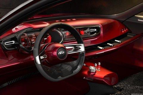 Interiøret i konseptbilen, her kan det nok bli endringer...