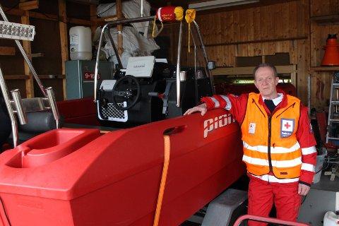 LETEAKSJON: Steinar Ladim i Moss Røde Kors Hjelpekorps var en av de frivillige som deltok i leteaksjonen etter mannen på Jeløy.