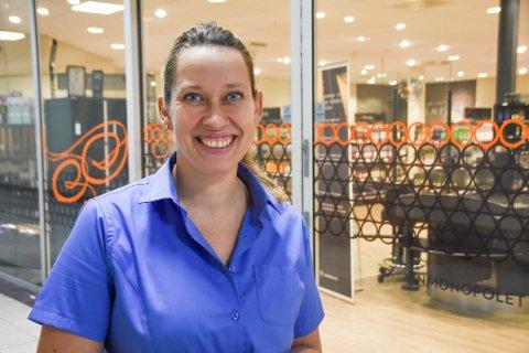 POLSJEF: Anette Reite har vært daglig leder hos Vinmonopolet i Moss i to måneder.