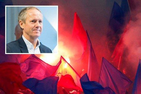 VEKKER REAKSJONER: NFFs generalsekretær Pål Bjerketvedt (innfelt) sine kommentarer vekker reaksjoner etter lørdagens kamp på Åråsen.