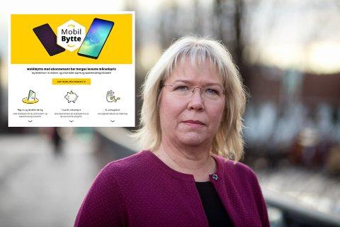 Krever endring: Nestleder i Forbrukertilsynet, Bente Øverli, mener reklamen fra Ice (innfelt) villeder forbrukerne. Selskapet har fått frist til 31. oktober til å endre markedsføringen.