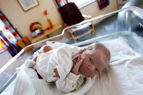 NYFØDT: Saker der nyfødte er involvert, får ofte stor medieoppmerksomhet. Her en nyfødt baby på fødeavdelingen på Sykehuset Østfold i Fredrikstad.