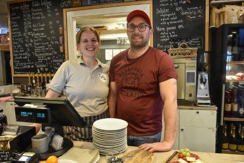 GRÜNDERE: Ekteparet bak The Coffee Van og The Coffee Shop Marie Dille og Tim Morris.