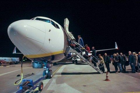 SISTE AVGANG. Bildet viser siste avgang på Moss Lufthavn Rygge før flyplassen ble stengt.