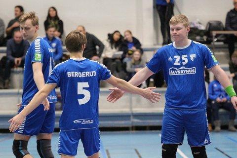 SUKSESS: HK Rygges G16-lag kunne ikke fått en bedre start på Bringserien. Fra venstre: Jørgen Brogård, Magnus Bergerud og Thorsan Bredesen.