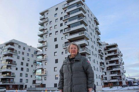 Går videre: - Naboenes klage går til fylkesmannen til endelig behandling, sier Gretha Kant. Her ved første byggetrinn på Rosenvinge Park.