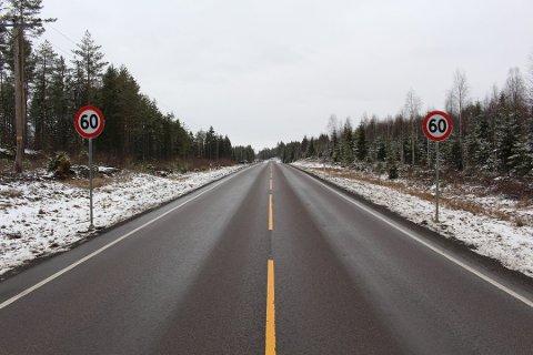 ENDRES: Fartsgrensen på stedet ble satt ned til 60 for langt sør. Her skal det fortsatt være 80-grense.