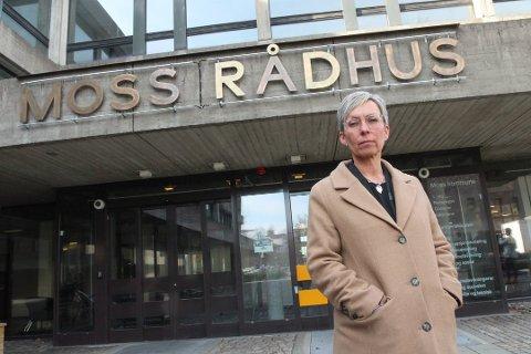 HADDE IKKE TROEN: Ordfører Hanne Tollerud hadde ikke mye tro på at pc-ene som ble stjålet ville bli funnet igjen.  – Her har politiet gjort en veldig god jobb, sier hun til Moss Avis.