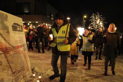 HENLAGT: Anmeldelsen mot BBM etter sørgemarsjen i Nyquistbyen ble henlagt kort tid etter at den ble levert til politiet.
