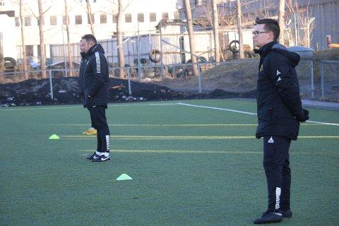 VENTETIDEN ER OVER: Til helgen møter Marijo Jovic og Kristoffer Kolsrud sin største test som MFK-trenere.