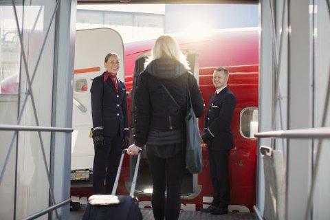 ØKER: Norwegian hadde flere passasjerer i mars i år enn i samme måned i fjor.
