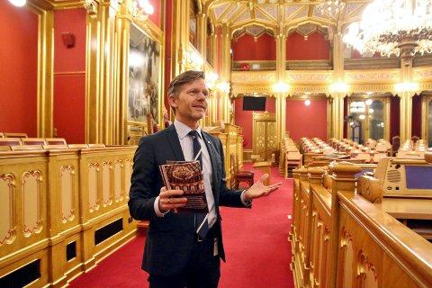 OPPTATT: Tage Pettersen (H), leder av Kontrollutvalget i Moss, møtte ikke i bystyret tirsdag fordi han var opptatt i møte på Stortinget. BLA OVER OG SE FLERE BILDER.