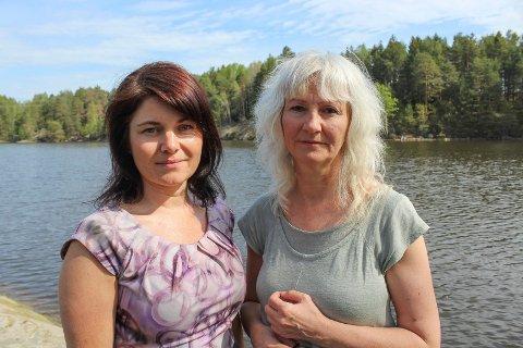 Skeptiske: Miljøpartiets Nina Mari Wagner og Benedicte Lund er betenkt over en klatrepark i Nesparken.