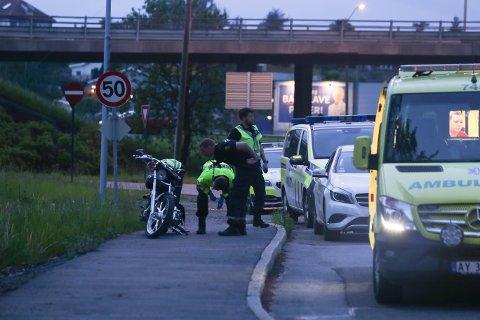 MC-føreren som kjørte av veien ved Tigerplassen blåste til langt over promillegrensa.