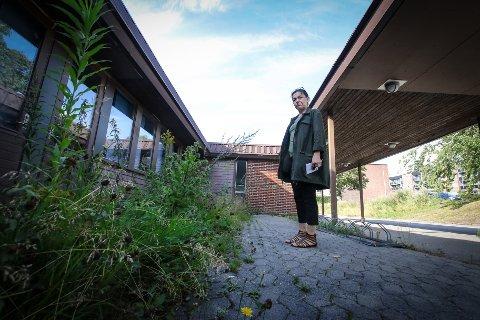 GJENGRODD: Flere steder ved Øreåsen skole er det gjengrodd med ugress. SVEIP OVER OG SE FLERE BILDER.