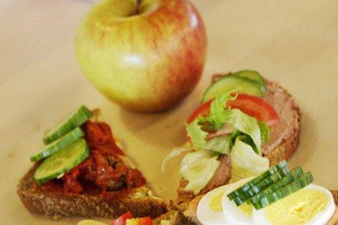 Sunn mat reduserer elevens inntak av det motsatte.