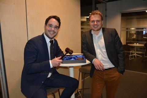 SENTRALE: Michael Torp (til venstre) er kommunestyrgruppens representant i styret i Moss Frp, som ledes av Niklas Eriksen.