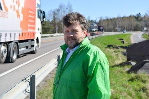 SKUFFET: Sindre W. Mork (V) er skuffet over svaret fra Statens vegvesen om fartsgrense på Innfartsveien.