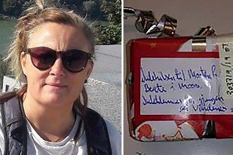 LØSTE MYSTERIET: Anette Johansen fra Moss tok ansvar og sporet opp avsenderen av julegaven.