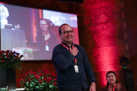 Sindre Lysø ble valgt til generalsekretær i AUF for andre gang.