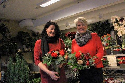 HEKTISK: I dagene frem mot julaften har Maryan Listaul og Peggy Iversen hatt mye og gjøre klart.