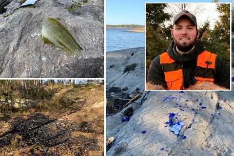 Da Marius Juvik (34) skulle på helgetur i et naturreservat i Vansjø, ble han lei seg da han så hvordan det så ut der.