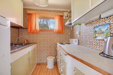 Slik ser kjøkkenet i hytta ut.
