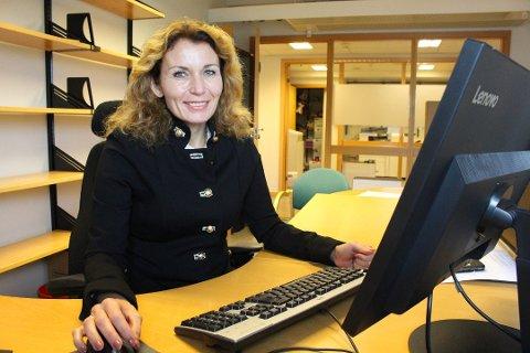 POLITIKER-COMEBACK: Kjerstin Wøyen Funderud er klar for å gjøre comeback som politiker for Senterpartiet til stortingsvalget i 2021. Her er hun jobben i Moss i 2018.