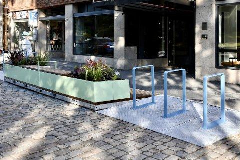 STYGT ELLER PENT?: Det meste av kommentarene går på om dette er stygt eller pent, og Moss Avis har heller ikke bidratt til å belyse bakgrunnen for møblet som av produsenten kalles «Parklets 2.0», som i en liten park, skriver  landskapsarkitekt Pål Dixon Sandberg.