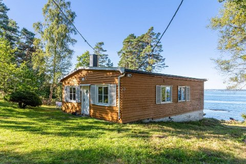 DYR MOSSEHYTTER: For å sikre deg denne hytta i Moss, må du ha en god slant å rutte med.
