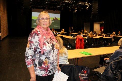 URO OG ANGST: Solveig Oskarsen holdt innlegg under Åpen halvtime i helse og mestring og fortalte om hvor mye uro og angst endringen av nattevaktordningen i omsorgsboligene for psykiatri- og ruspasienter har medført.
