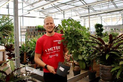 Siden 3. august har Michael Lagerhorst drevet plantasjen i Vestby.