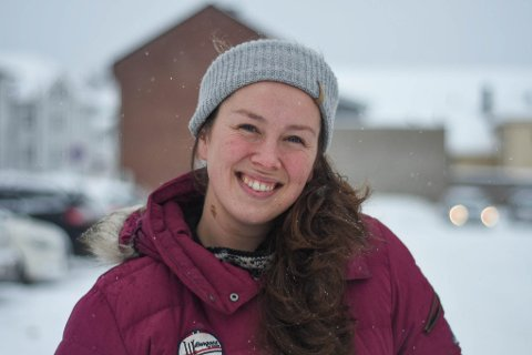OPPFORDRER: Marianne Saltbones Lindboe (29) oppfordrer andre i Moss om å bli med.