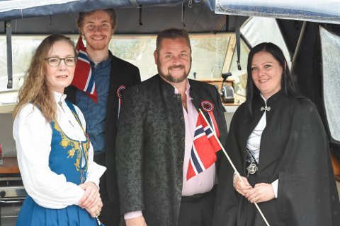 I BÅTEN: Renate Næsse, Lars Vidar Næsse, Frode Nøsse og Camilla Engelsjord.