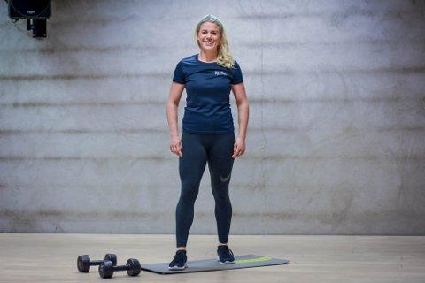PT: Stine Rui jobber som personlig trener på Spenst i Moss og skriver om trening for Moss Avis. Foto: Line Stensland Haglund