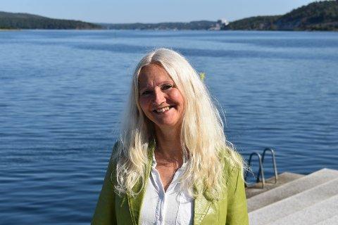 FORNØYD: Benedicte Lund, MDG, kan juble over medlemsvekst for partiet i Østfold etter at FNs klimapanel slapp sin siste hovedrapport.