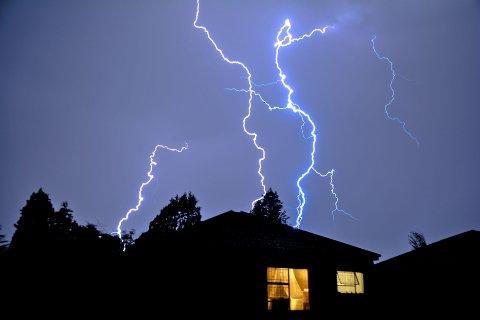 Viken hadde flest meldte lyn-skader i juli.
