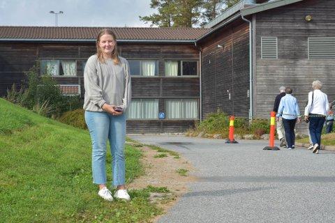 HAR STEMT: Kamilla Moen fra Råde er spesielt opptatt av helse, klima og mindre forskjeller. Det la hun vekt på da hun stemte søndag.