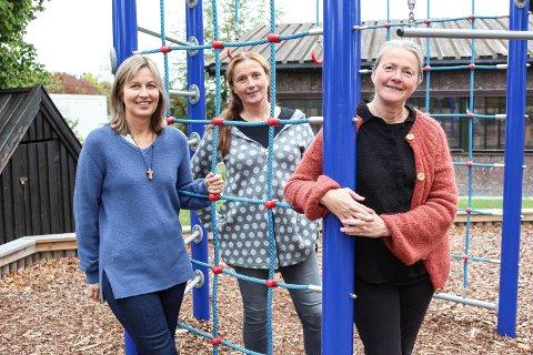 BARN OG SORG: Astrid Gangestad (f.v.), Ellen Lykke Trier og Linde Wennersten skal lede nye sorggrupper for barn.