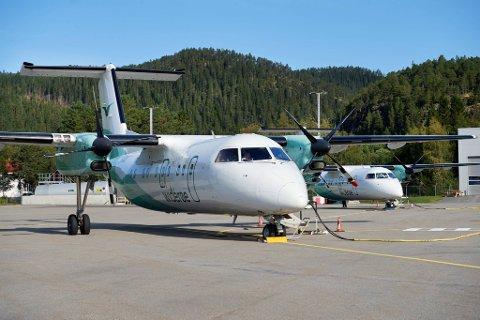 FOT-RUTER: I forslaget til nytt statsbudsjett foreslås det bevilgninger til statlig kjøp av regionale flyruter i 2022. Dette omfatter blant annet direkteruter fra Namsos og Rørvik til Trondheim.