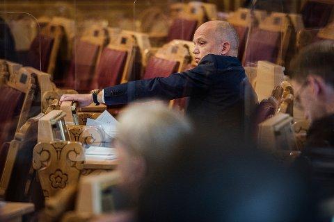 STYRT SENTRALISERING: Senterparti-leder Trygve Slagsvold Vedum har ingen tro på at å gjøre om Namdal tingrett til et rettssted vil føre til mer aktivitet i rettssalen i Namsos.