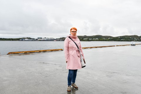 OPPGITT: Lise Williksen måtte kjøre fra Ottersøy til Namsos for å hente sønnen og kompisen da hurtigbåten var innstilt.