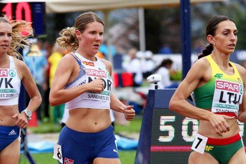 LAR SEG IKKE STRESSE: – Det tar tid å trene seg opp til å tåle en slik distanse, sier Maria Sagnes Wågan om maratonsatsinga.