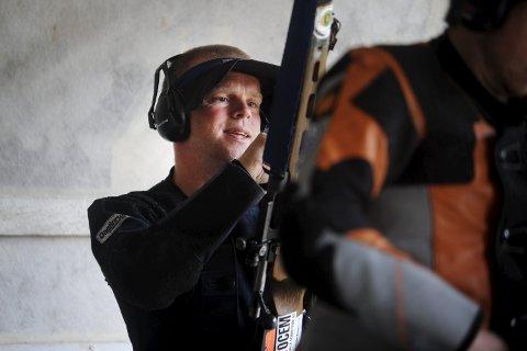 ENESTE KVALIFISERTE: Audun Risvik fra Overhalla er foreløpig eneste namdalske skytter som er kvalifisert til Skytternes Mestermøte i august. Til helga kan dette endre seg.